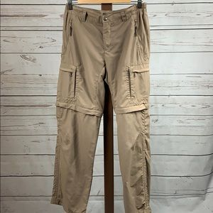 REI Tan Convertible Cargo Hiking Pants